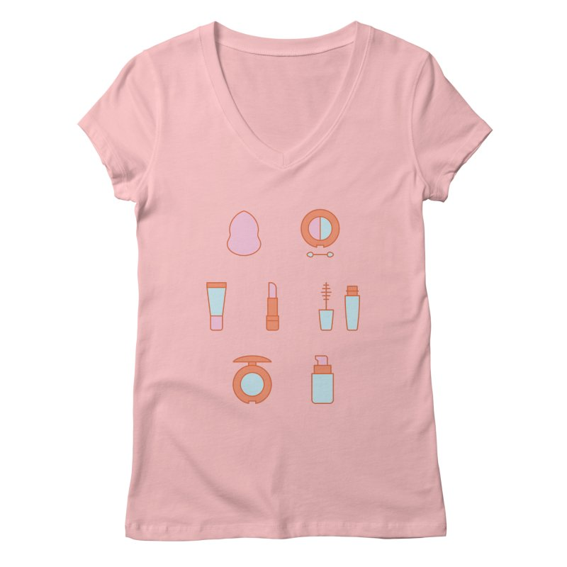 Cosmetics Pattern Women's Regular V-Neck by abstractocreate's Artist Shop