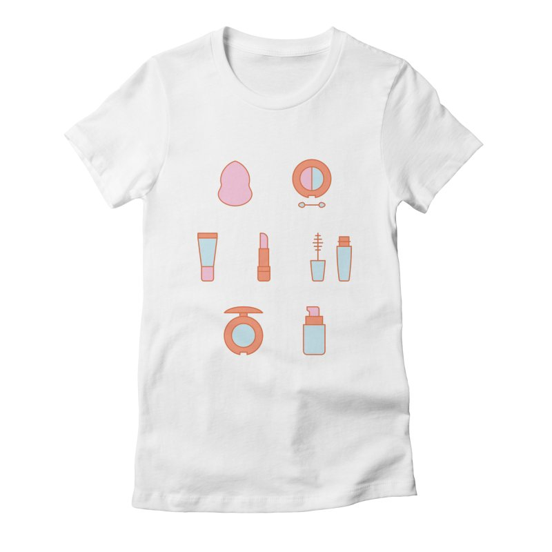 Cosmetics Pattern Women's Fitted T-Shirt by abstractocreate's Artist Shop