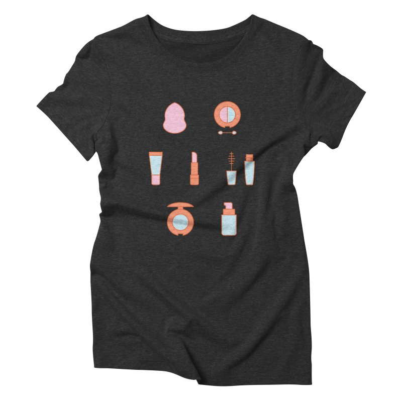 Cosmetics Pattern Women's Triblend T-Shirt by abstractocreate's Artist Shop
