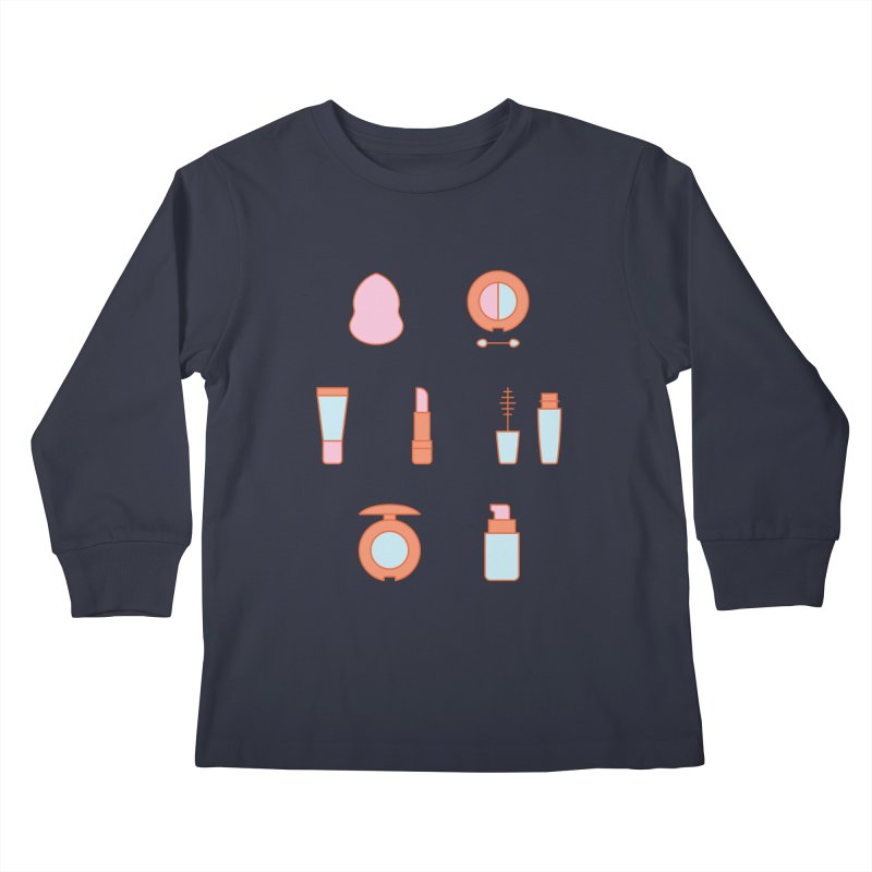 Cosmetics Pattern Kids Longsleeve T-Shirt by abstractocreate's Artist Shop