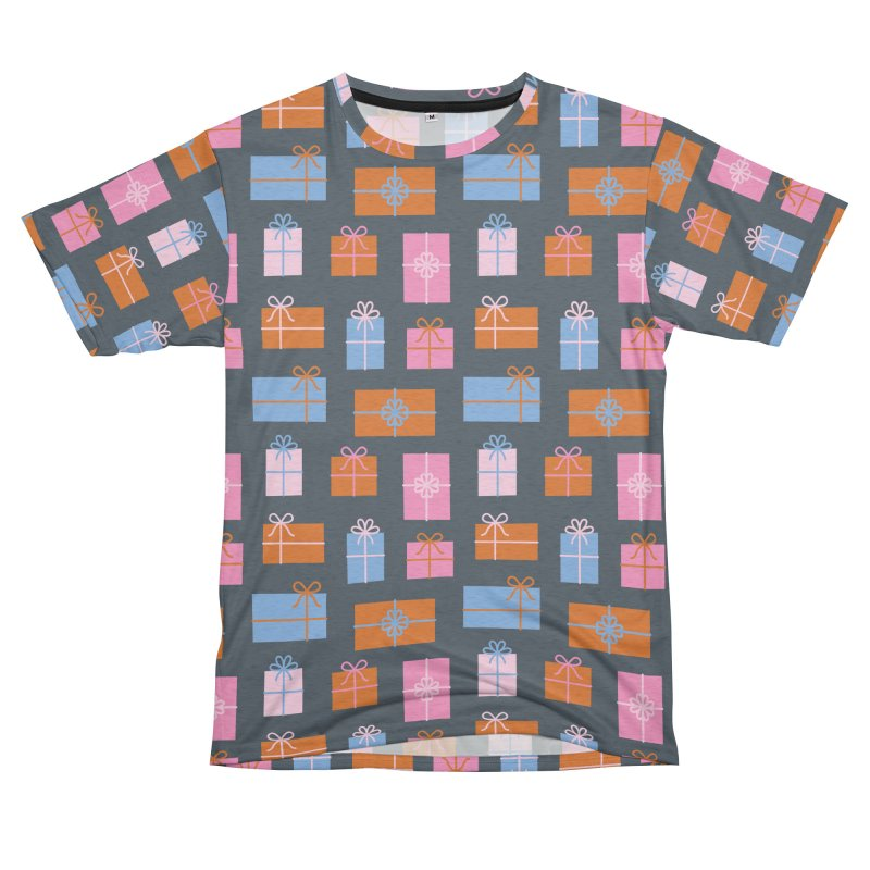 Gift Box Pattern Women's Unisex French Terry T-Shirt Cut & Sew by abstractocreate's Artist Shop