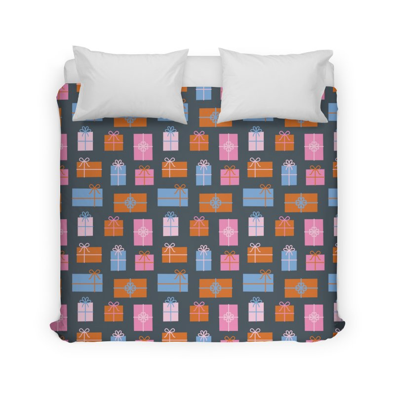 Gift Box Pattern Home Duvet by abstractocreate's Artist Shop