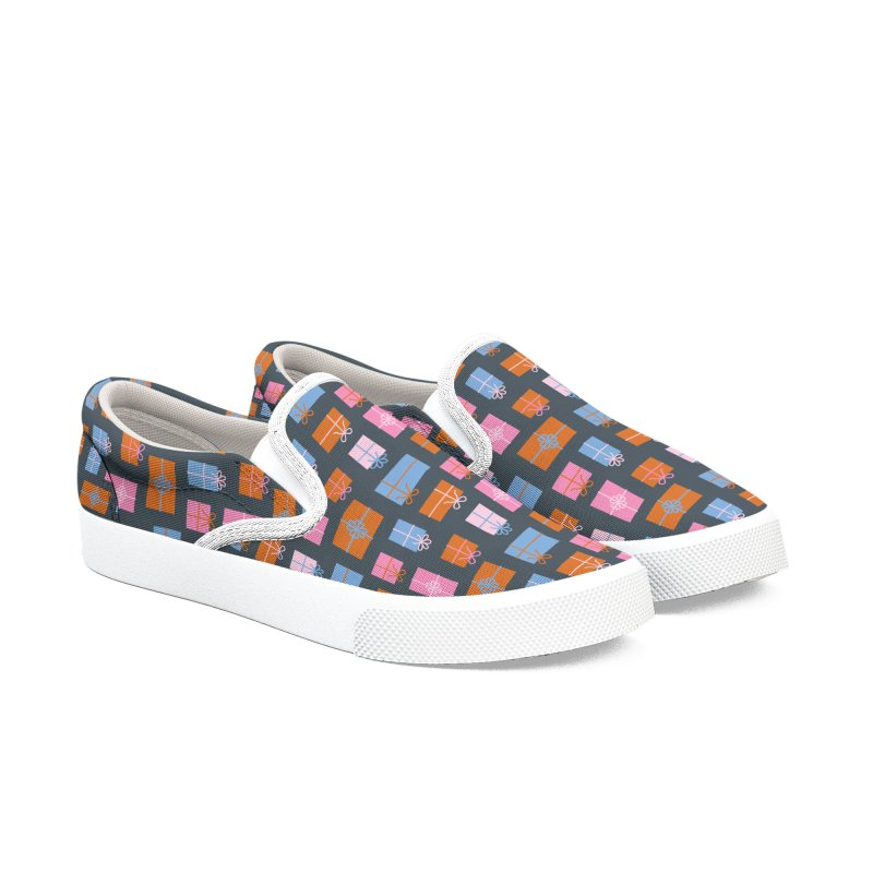 Gift Box Pattern Women's Slip-On Shoes by abstractocreate's Artist Shop