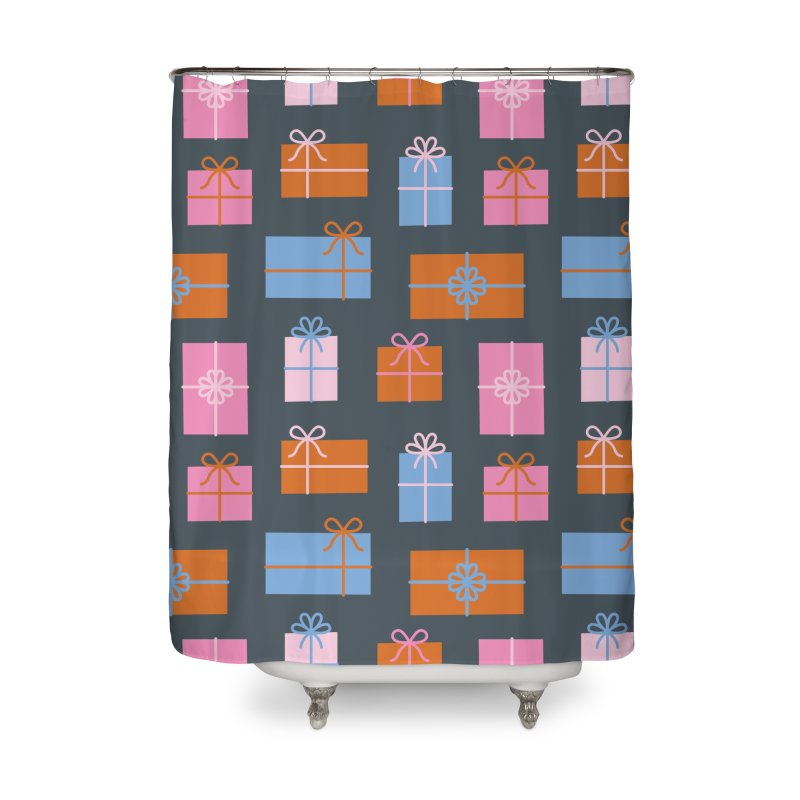 Gift Box Pattern Home Shower Curtain by abstractocreate's Artist Shop