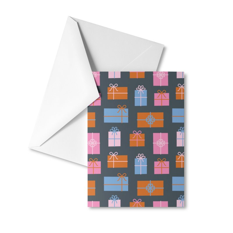 Gift Box Pattern Accessories Greeting Card by abstractocreate's Artist Shop