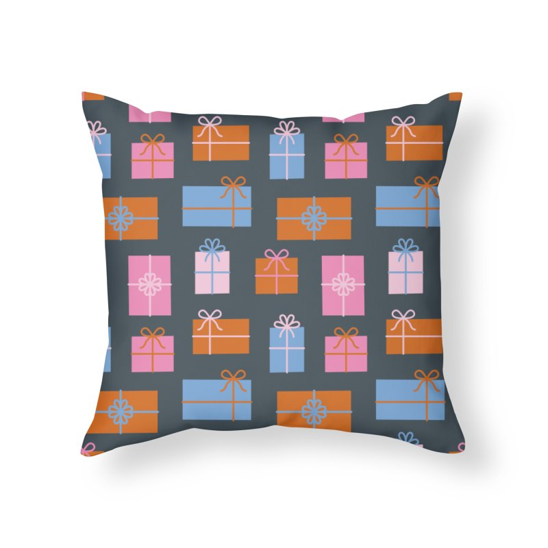 Gift Box Pattern Home Throw Pillow by abstractocreate's Artist Shop