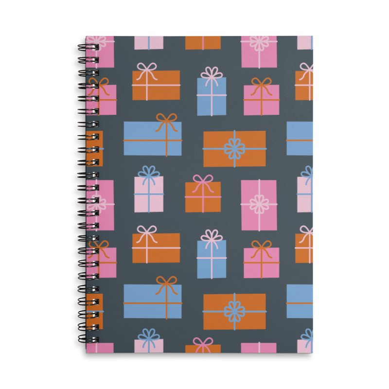Gift Box Pattern Accessories Lined Spiral Notebook by abstractocreate's Artist Shop