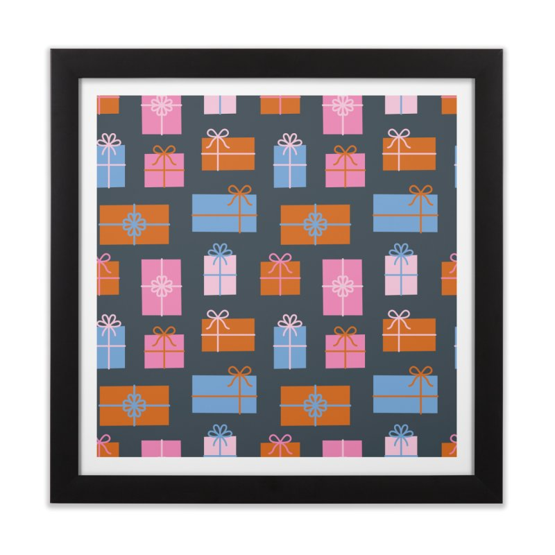 Gift Box Pattern Home Framed Fine Art Print by abstractocreate's Artist Shop