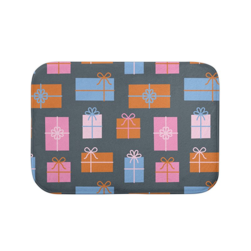 Gift Box Pattern Home Bath Mat by abstractocreate's Artist Shop