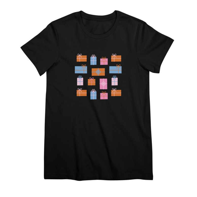 Gift Box Pattern Women's Premium T-Shirt by abstractocreate's Artist Shop