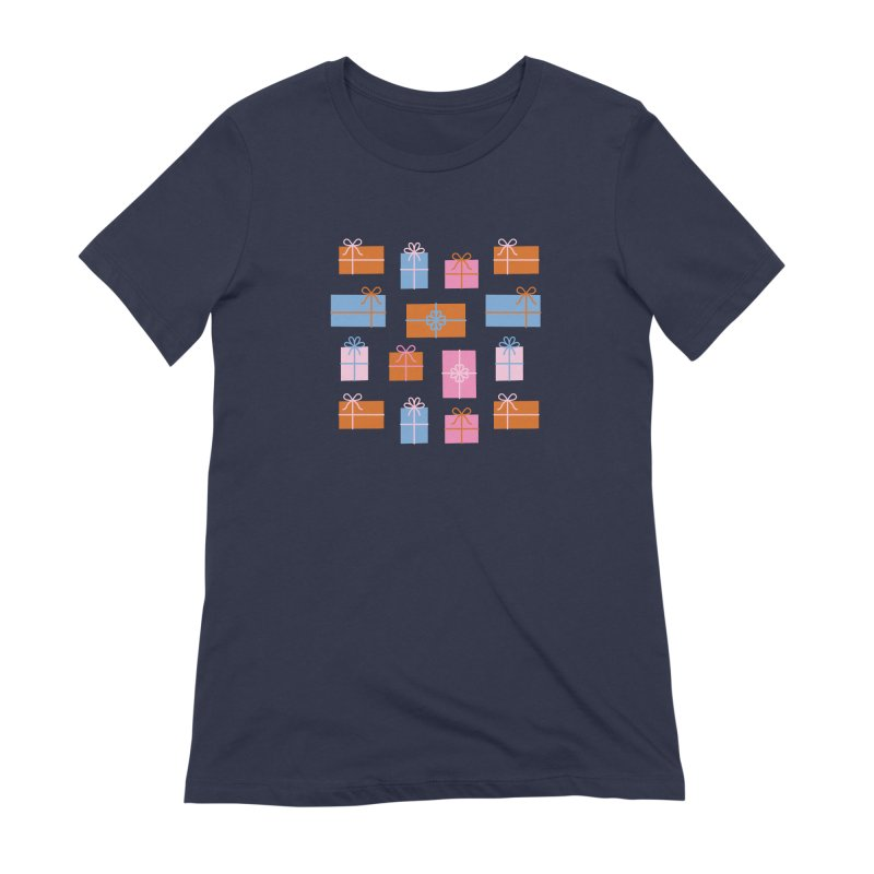 Gift Box Pattern Women's Extra Soft T-Shirt by abstractocreate's Artist Shop