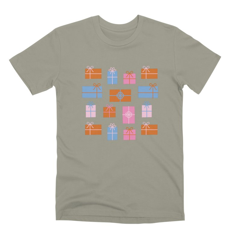 Gift Box Pattern Men's Premium T-Shirt by abstractocreate's Artist Shop