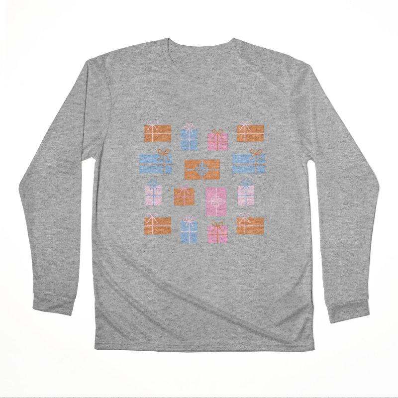 Gift Box Pattern Women's Performance Unisex Longsleeve T-Shirt by abstractocreate's Artist Shop