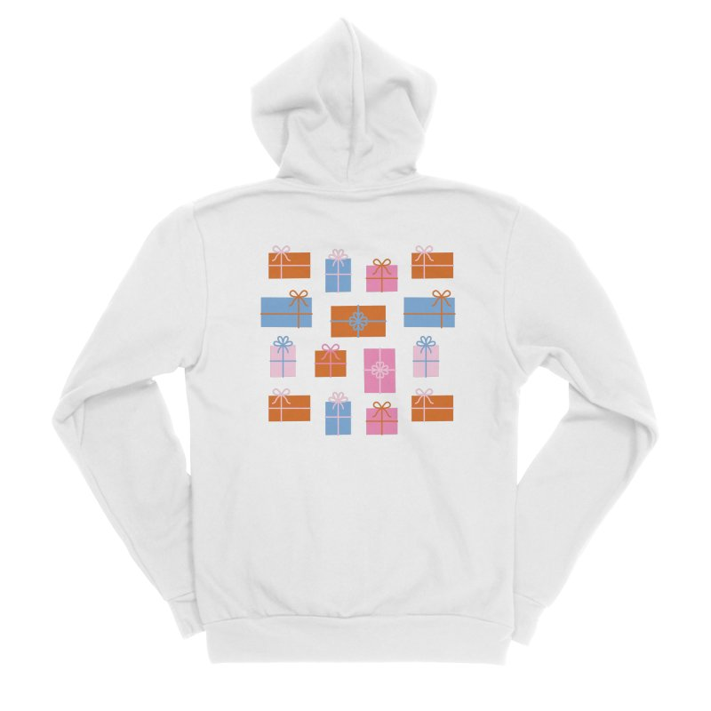 Gift Box Pattern Women's Sponge Fleece Zip-Up Hoody by abstractocreate's Artist Shop