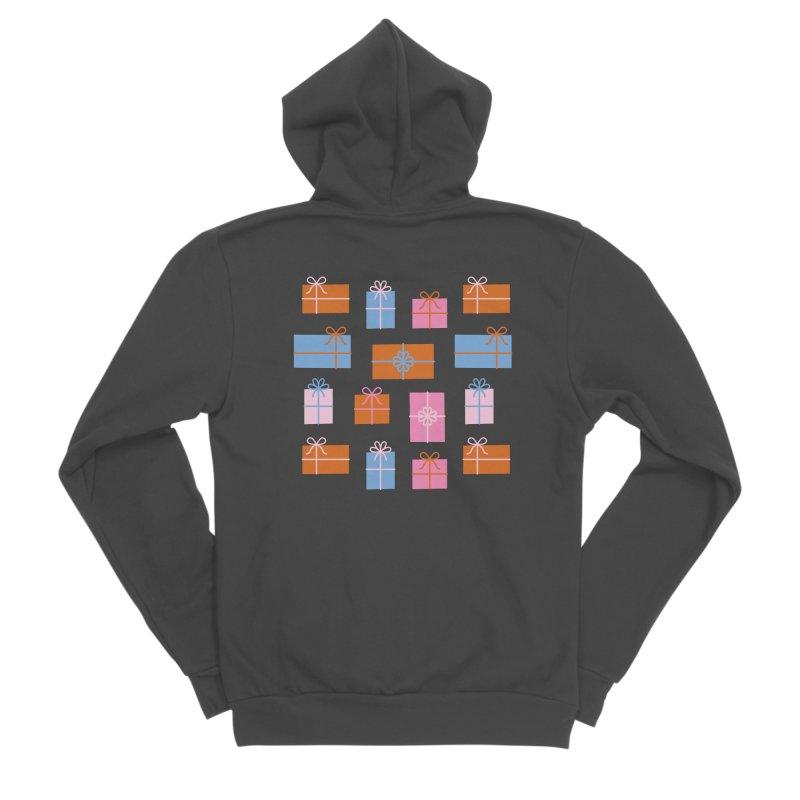 Gift Box Pattern Men's Sponge Fleece Zip-Up Hoody by abstractocreate's Artist Shop