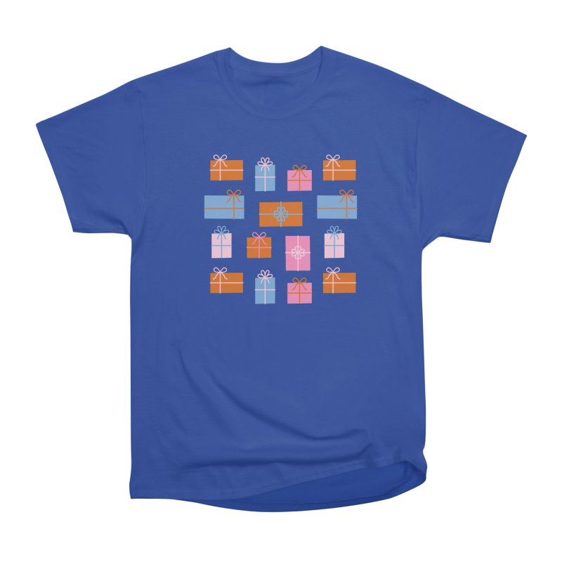 Gift Box Pattern Women's Heavyweight Unisex T-Shirt by abstractocreate's Artist Shop