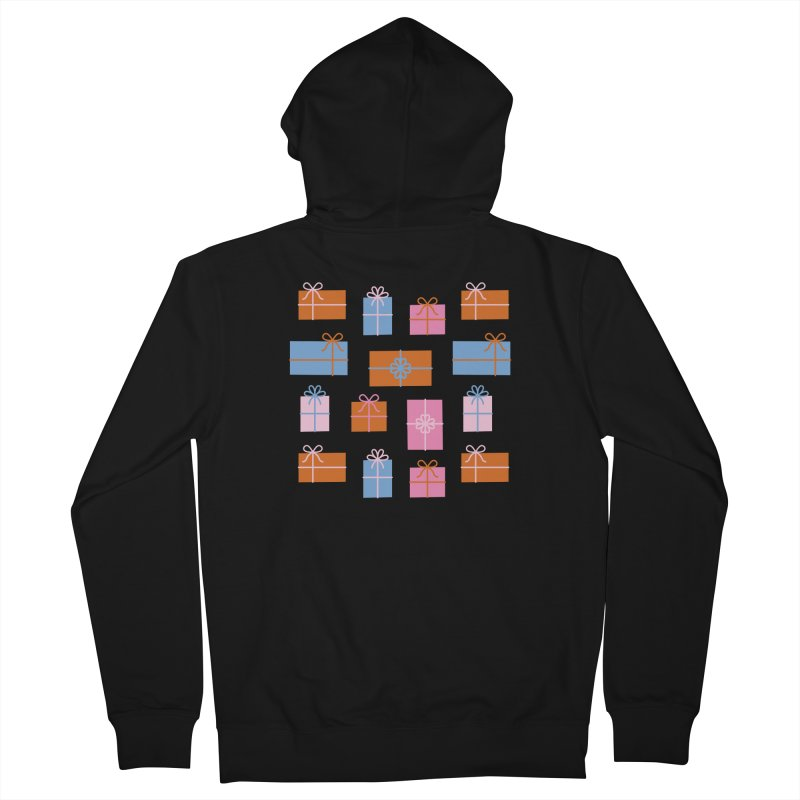 Gift Box Pattern Women's French Terry Zip-Up Hoody by abstractocreate's Artist Shop