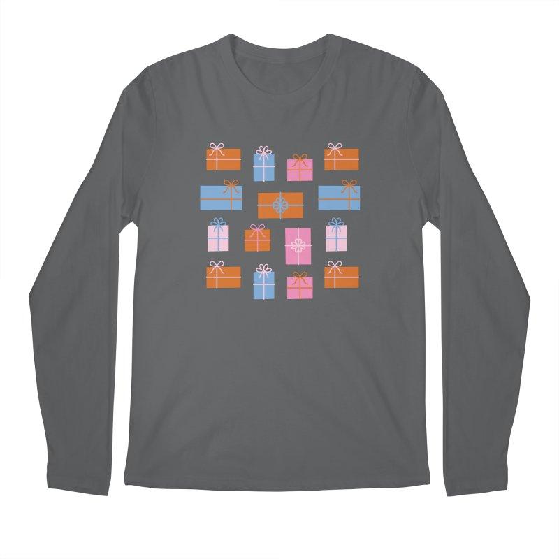 Gift Box Pattern Men's Longsleeve T-Shirt by abstractocreate's Artist Shop