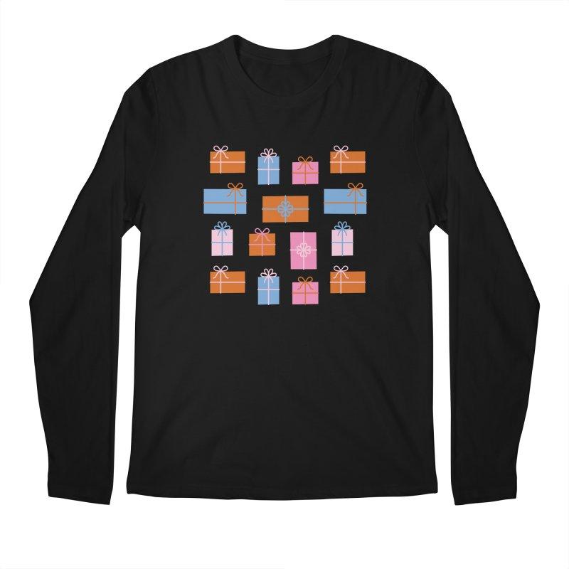 Gift Box Pattern Men's Regular Longsleeve T-Shirt by abstractocreate's Artist Shop