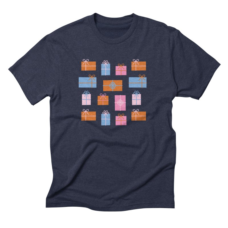 Gift Box Pattern Men's Triblend T-Shirt by abstractocreate's Artist Shop