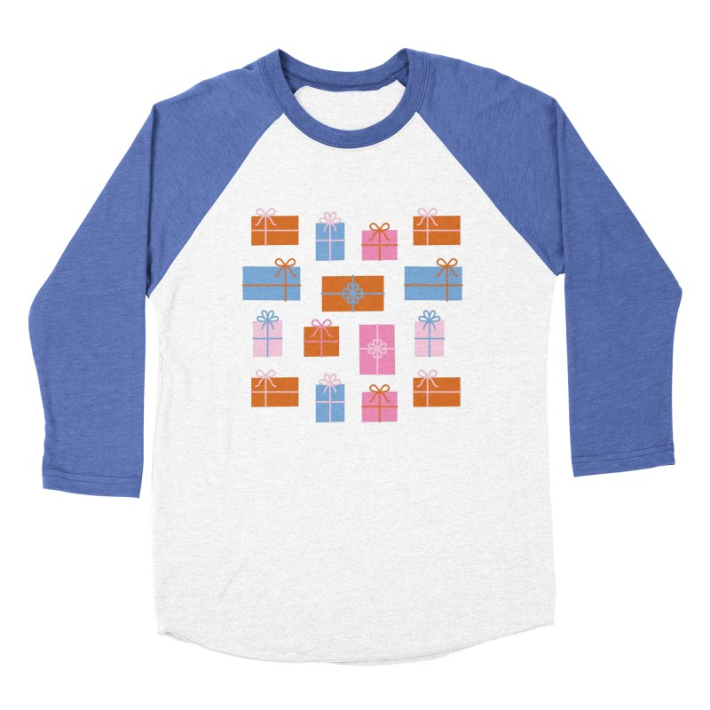 Gift Box Pattern Women's Baseball Triblend Longsleeve T-Shirt by abstractocreate's Artist Shop