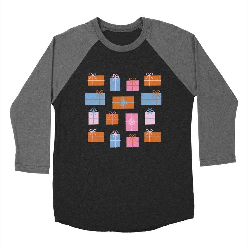 Gift Box Pattern Men's Baseball Triblend Longsleeve T-Shirt by abstractocreate's Artist Shop