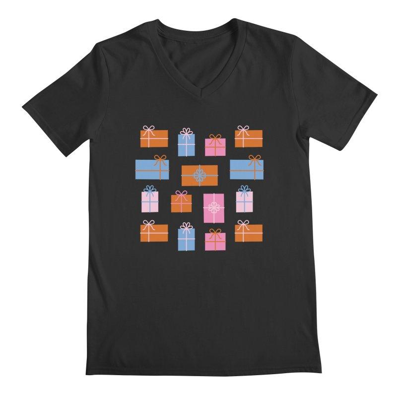 Gift Box Pattern Men's Regular V-Neck by abstractocreate's Artist Shop