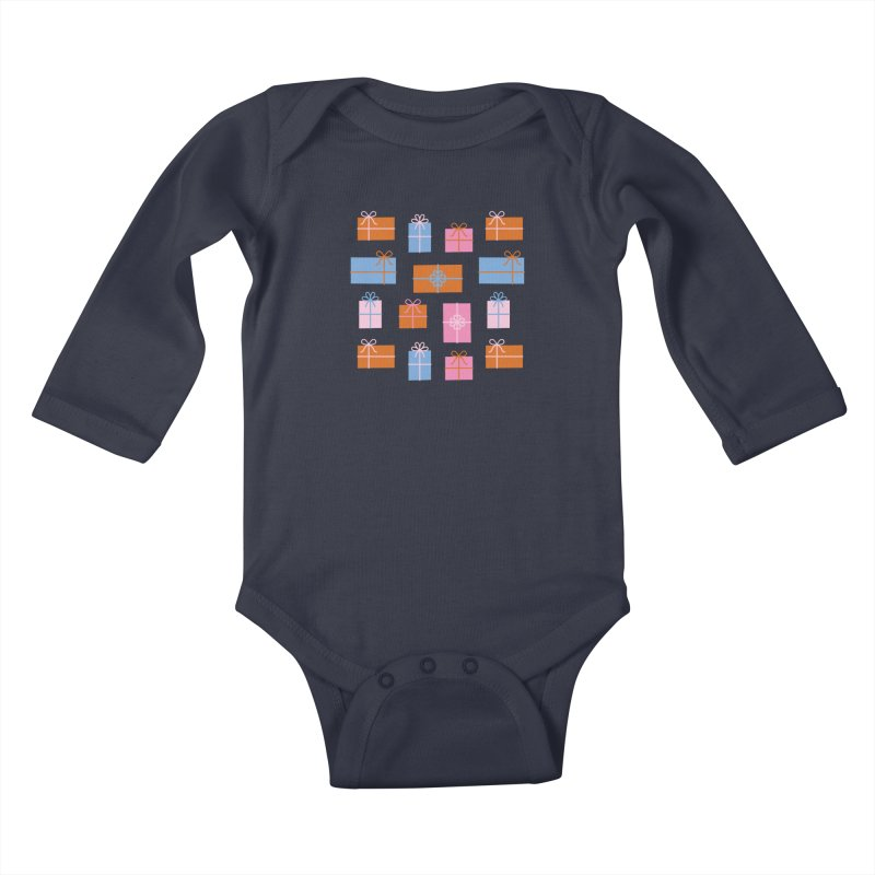 Gift Box Pattern Kids Baby Longsleeve Bodysuit by abstractocreate's Artist Shop