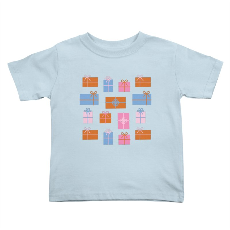 Gift Box Pattern Kids Toddler T-Shirt by abstractocreate's Artist Shop