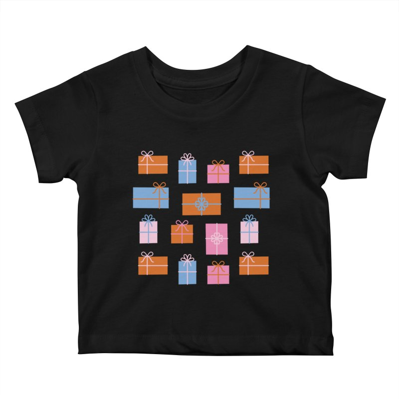 Gift Box Pattern Kids Baby T-Shirt by abstractocreate's Artist Shop