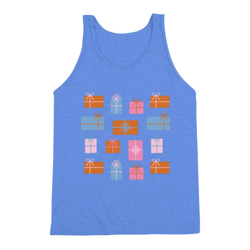 Gift Box Pattern Men's Triblend Tank by abstractocreate's Artist Shop