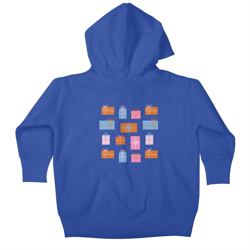 Gift Box Pattern Kids Baby Zip-Up Hoody by abstractocreate's Artist Shop