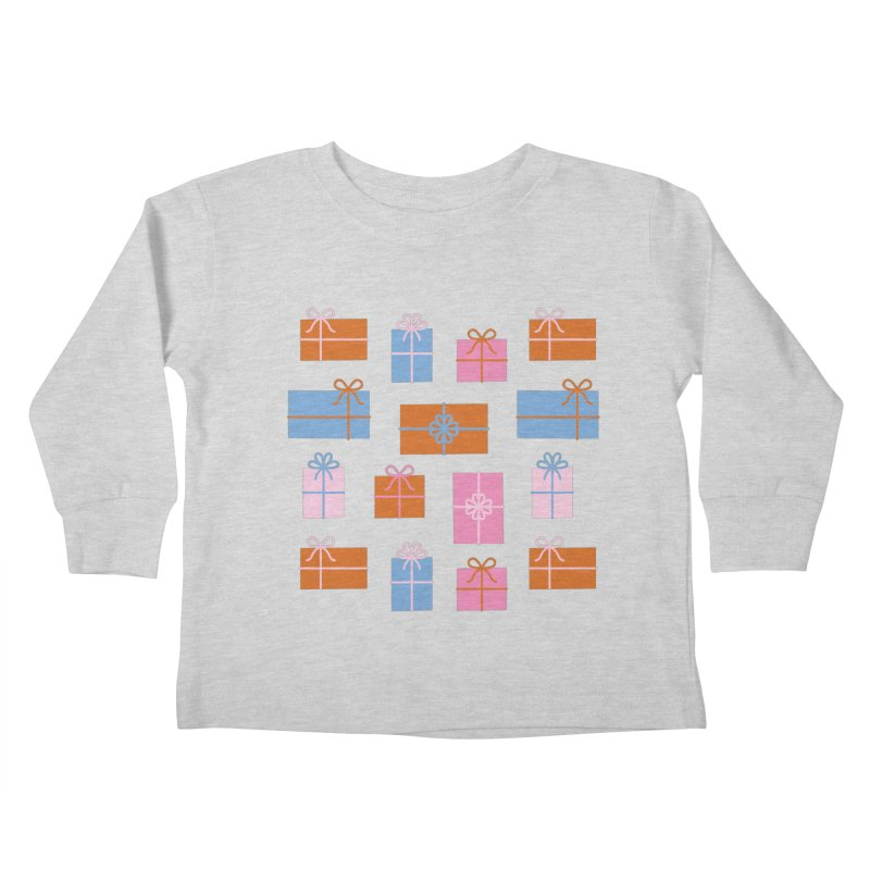 Gift Box Pattern Kids Toddler Longsleeve T-Shirt by abstractocreate's Artist Shop