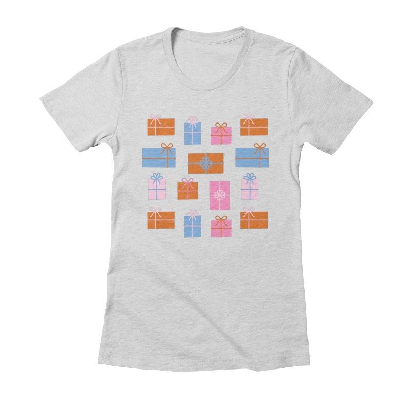 Gift Box Pattern Women's Fitted T-Shirt by abstractocreate's Artist Shop