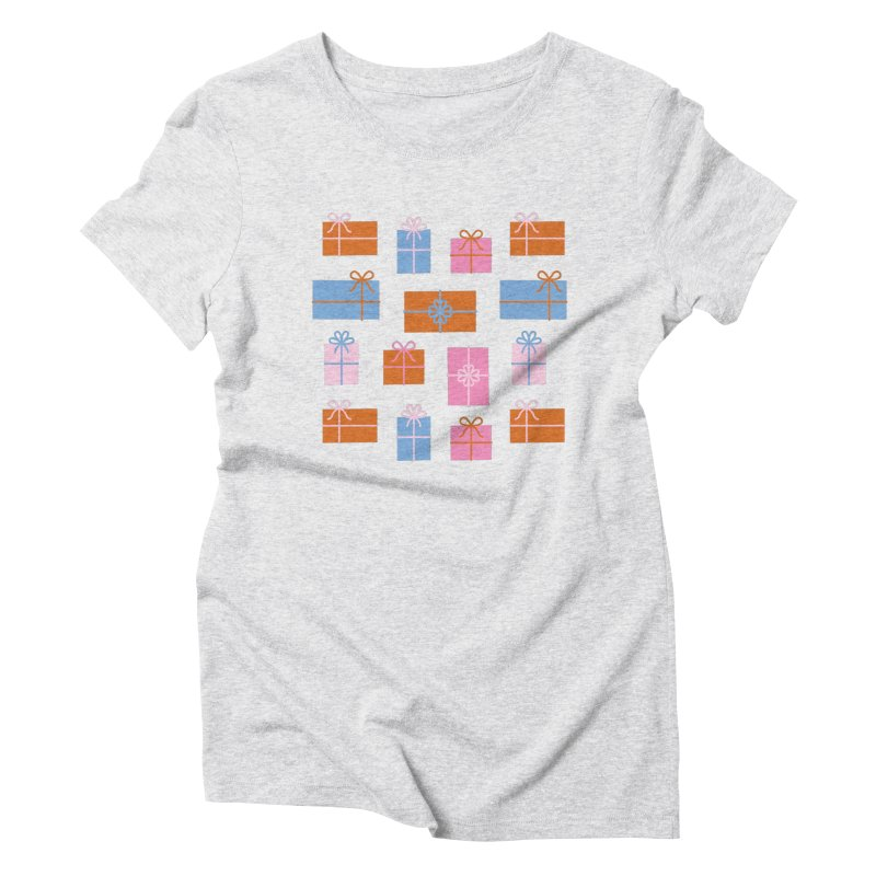 Gift Box Pattern Women's Triblend T-Shirt by abstractocreate's Artist Shop