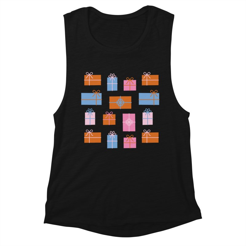 Gift Box Pattern Women's Muscle Tank by abstractocreate's Artist Shop