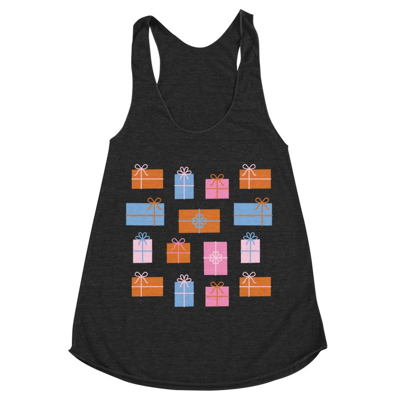 Gift Box Pattern Women's Racerback Triblend Tank by abstractocreate's Artist Shop