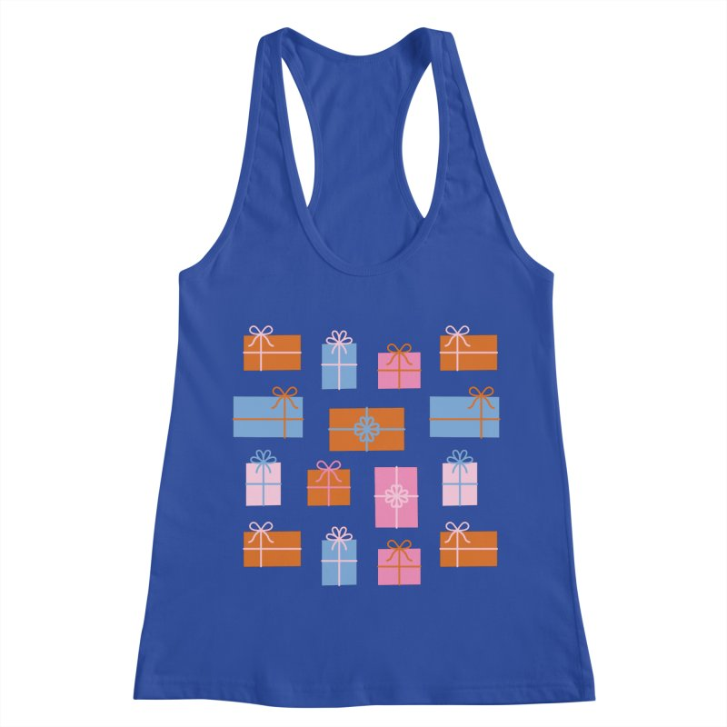 Gift Box Pattern Women's Racerback Tank by abstractocreate's Artist Shop