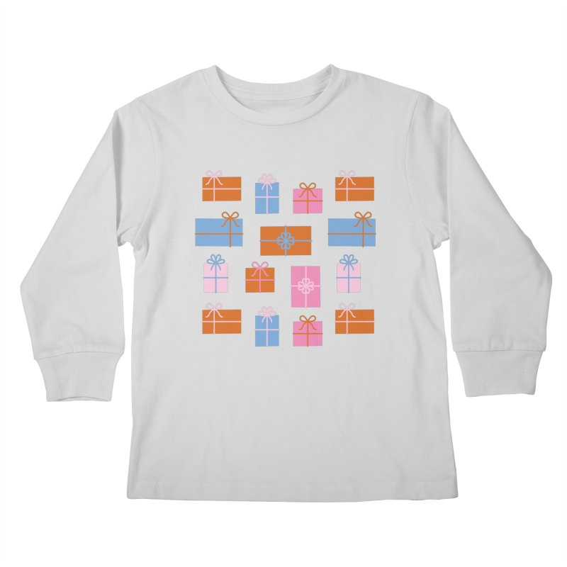 Gift Box Pattern Kids Longsleeve T-Shirt by abstractocreate's Artist Shop