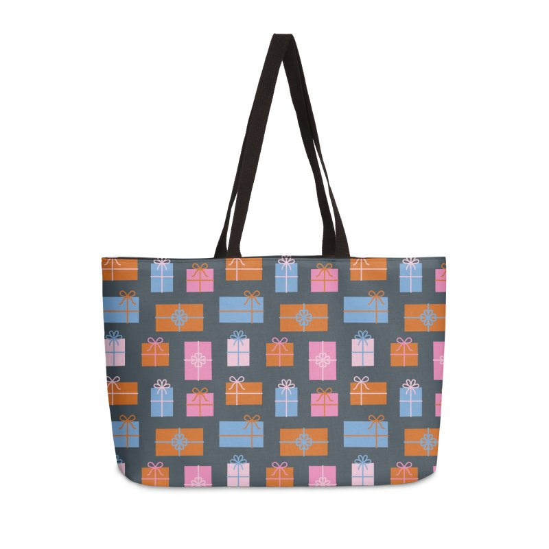 Gift Box Pattern Accessories Weekender Bag Bag by abstractocreate's Artist Shop