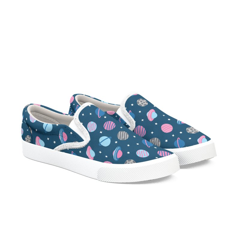 Universe & Planets Pattern Women's Slip-On Shoes by abstractocreate's Artist Shop