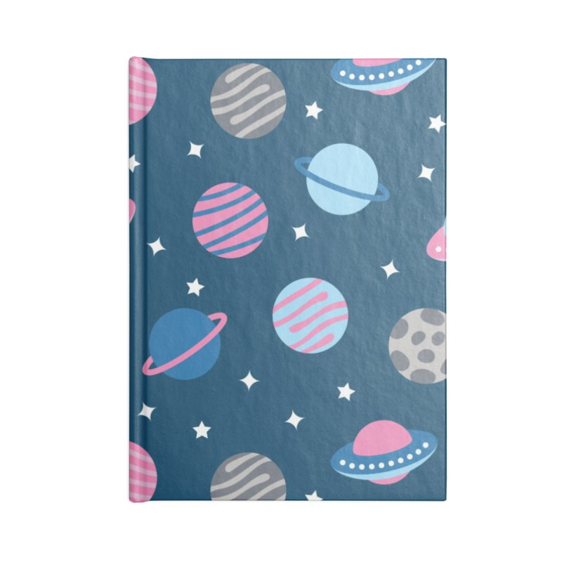 Universe & Planets Pattern Accessories Lined Journal Notebook by abstractocreate's Artist Shop
