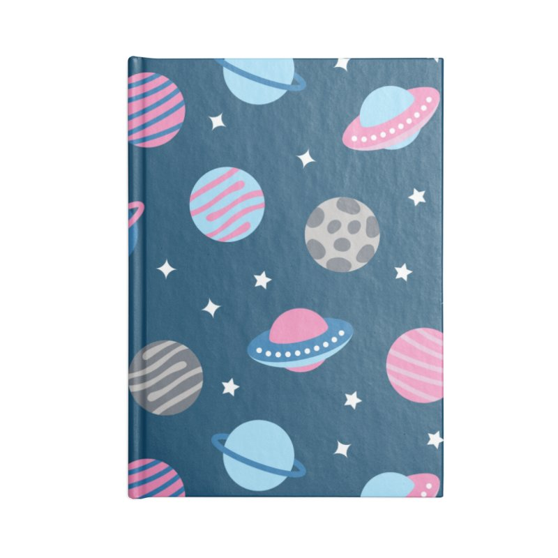 Universe & Planets Pattern Accessories Blank Journal Notebook by abstractocreate's Artist Shop