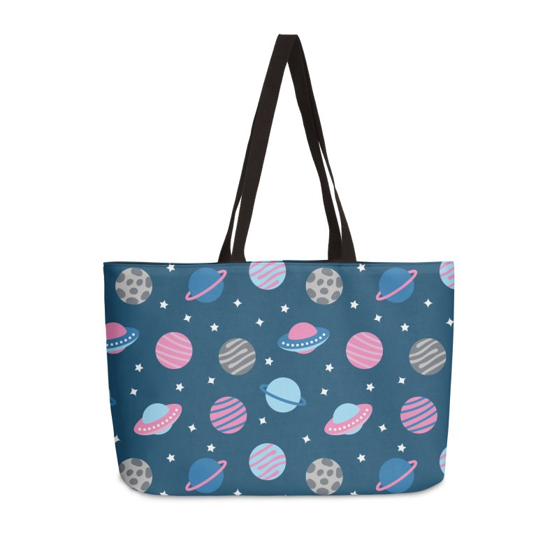 Universe & Planets Pattern Accessories Weekender Bag Bag by abstractocreate's Artist Shop