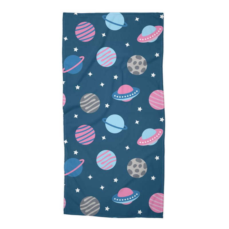 Universe & Planets Pattern Accessories Beach Towel by abstractocreate's Artist Shop