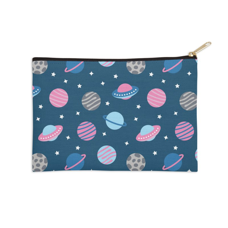 Universe & Planets Pattern Accessories Zip Pouch by abstractocreate's Artist Shop