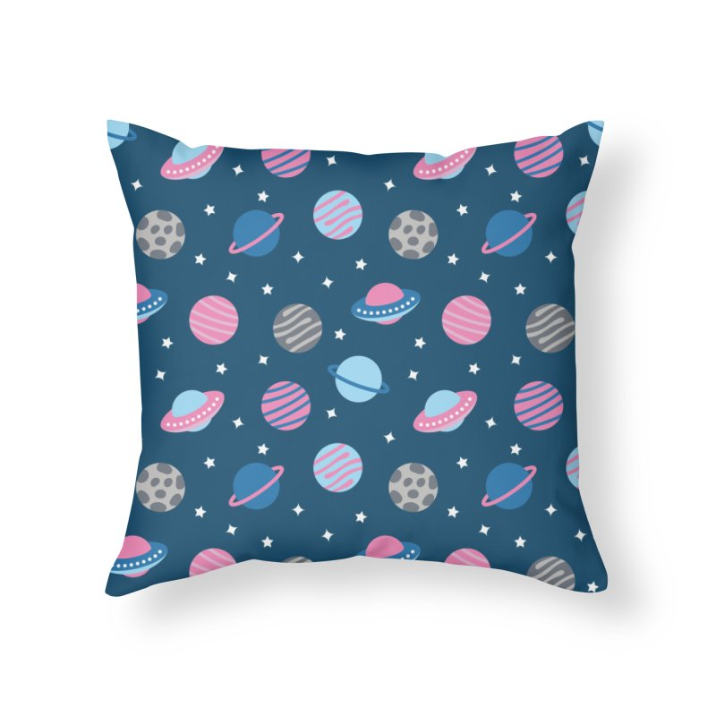 Universe & Planets Pattern Home Throw Pillow by abstractocreate's Artist Shop