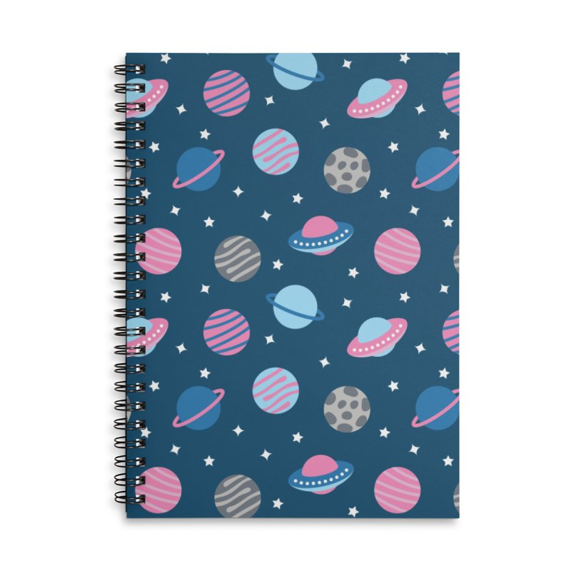 Universe & Planets Pattern Accessories Notebook by abstractocreate's Artist Shop
