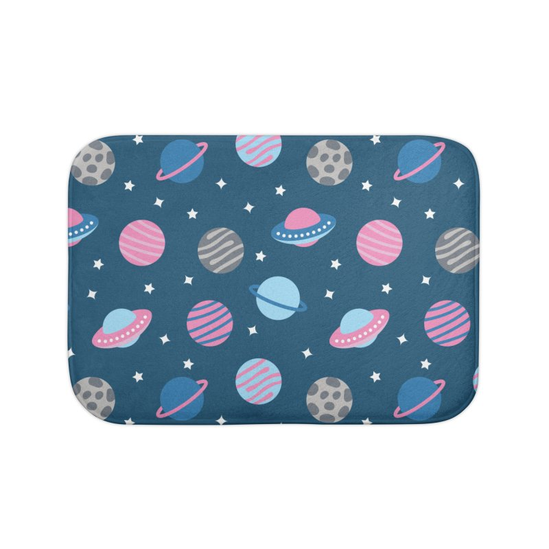 Universe & Planets Pattern Home Bath Mat by abstractocreate's Artist Shop