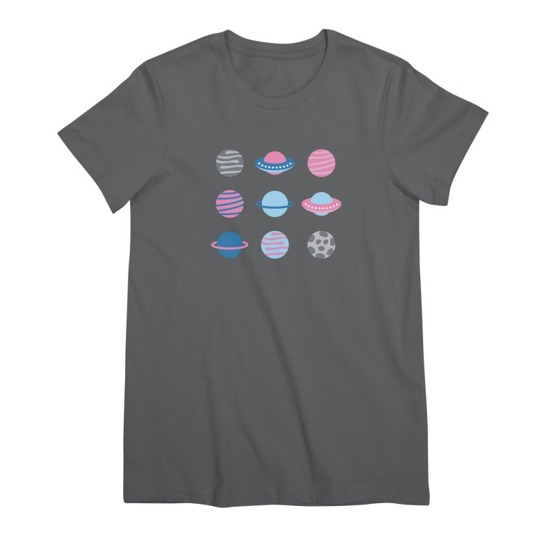 Universe & Planets Pattern Women's Premium T-Shirt by abstractocreate's Artist Shop